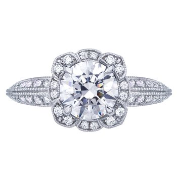 Vintage Halo Style Diamond Engagement Ring