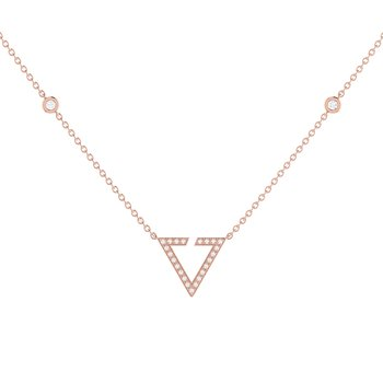 Skyline Necklace in 14 KT Rose Gold Vermeil on Sterling Silver