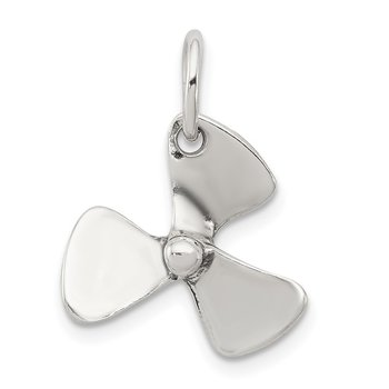 Sterling Silver 3D Antiqued Boat Propeller Charm