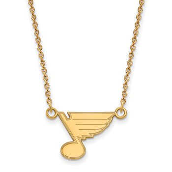 Gold St. Louis Blues NHL Necklace