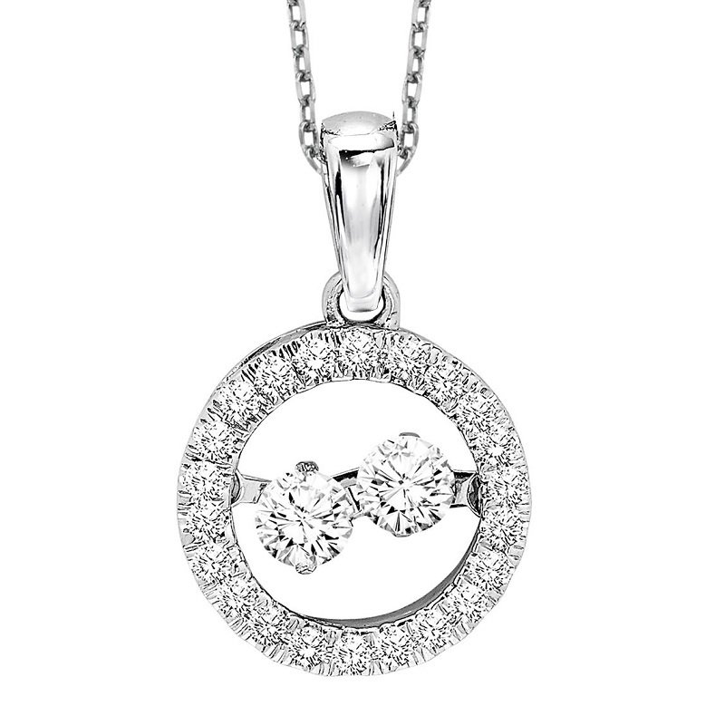 Rhythm of Love 10K Diamond Rhythm Of Love Pendant 1/3 ctw