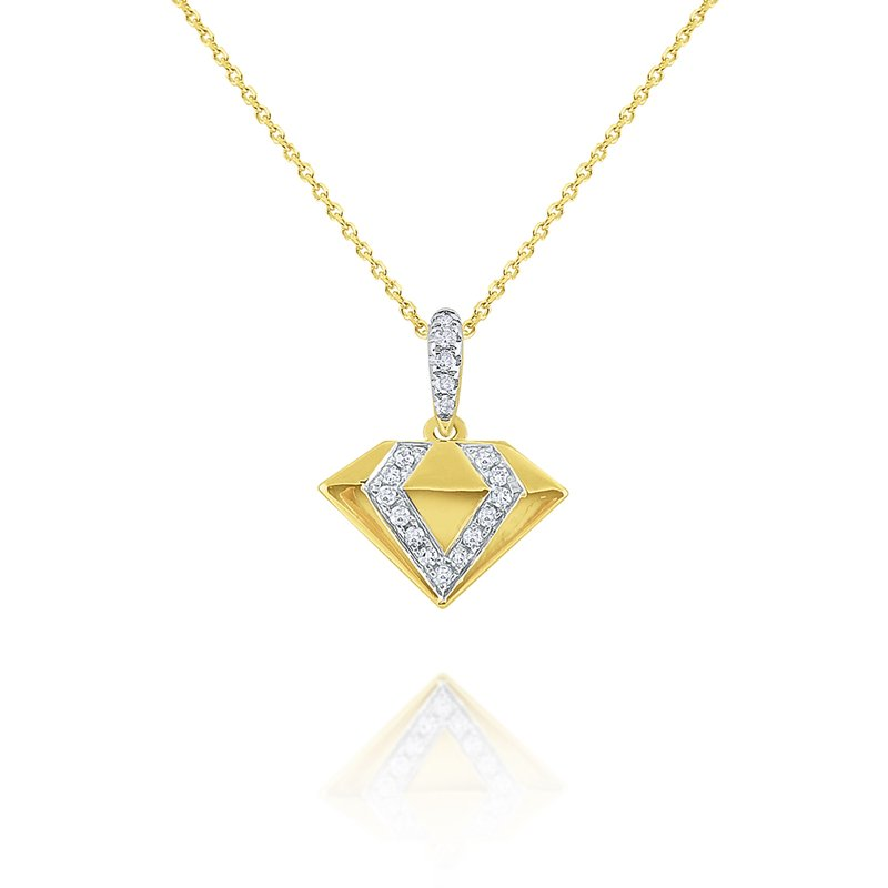 KC Designs 14k Gold Diamond Shape Necklace