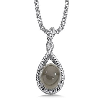 Sterling Silver Grey Moonstone Pendant