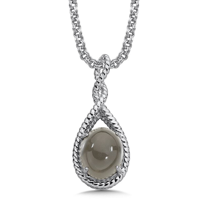 Colore Sg Sterling Silver Grey Moonstone Pendant