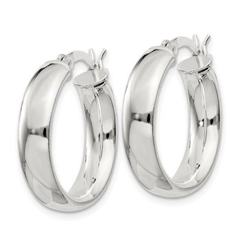 Sterling Silver 4.75x20mm Hoop Earrings