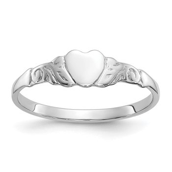 10k White Gold Heart Ring