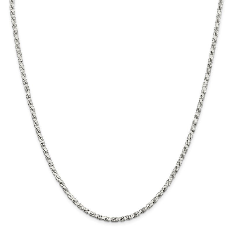 Quality Gold Sterling Silver 3.1mm Flat Rope Chain
