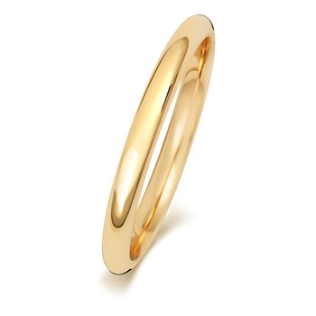 18Ct Yellow Gold 2mm Traditional Court Wedding Ring
