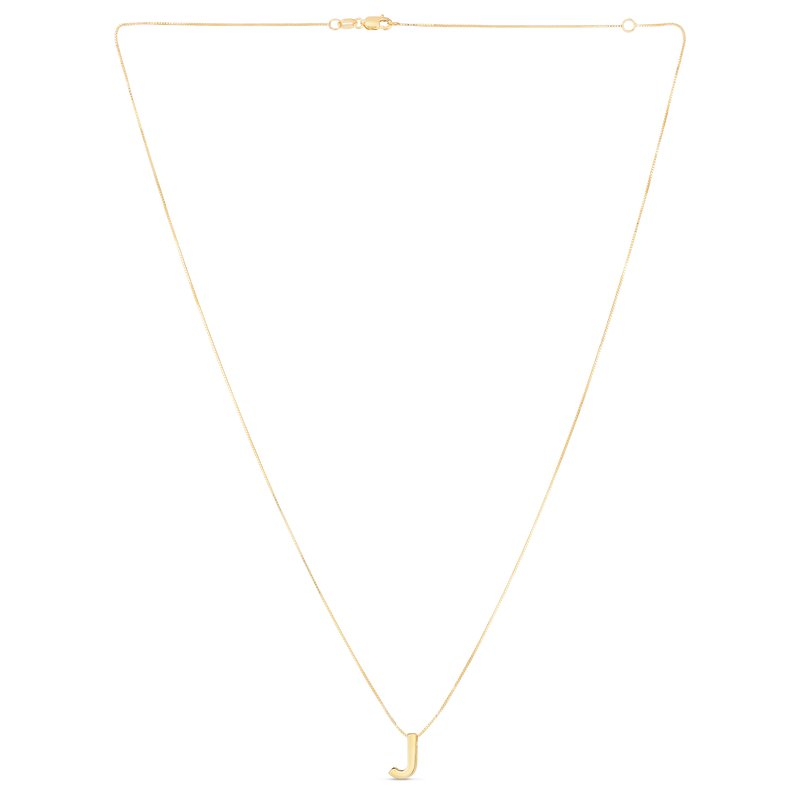 Royal Chain 14K Gold Block Letter Initial J Necklace