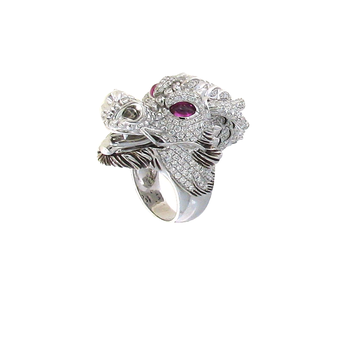 18KT GOLD DIAMOND DRAGON RING