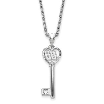 Sterling Silver 88 Dale Earnhardt Jr NASCAR Necklace