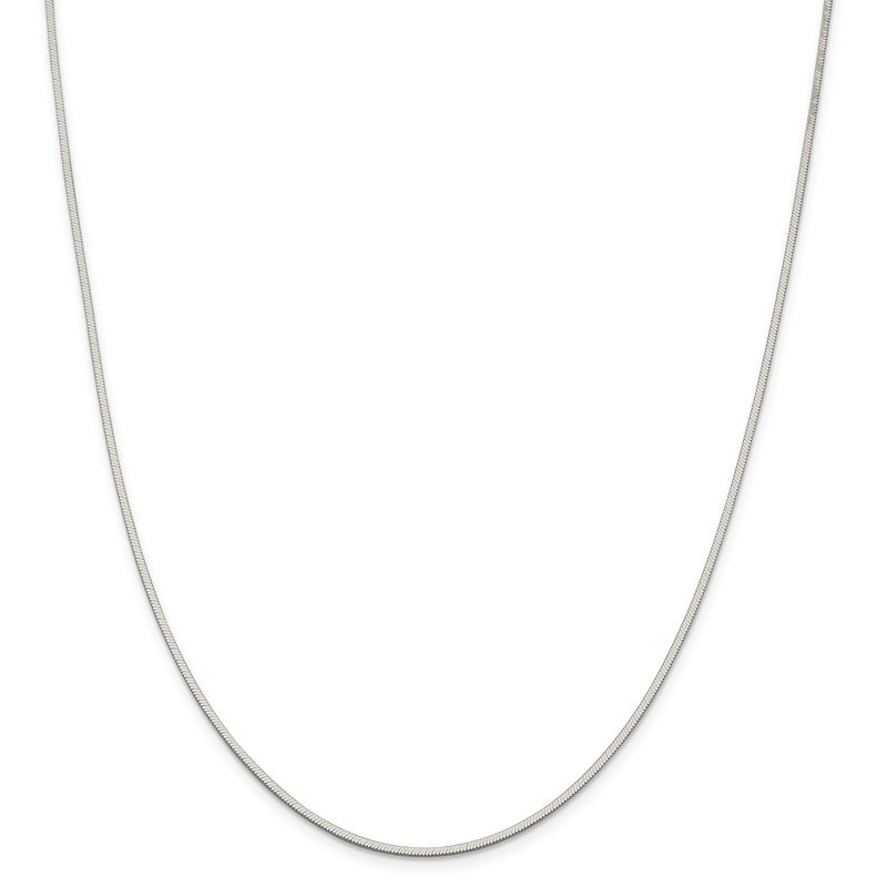 Sterling Silver 1.5mm Octagonal Snake Chain