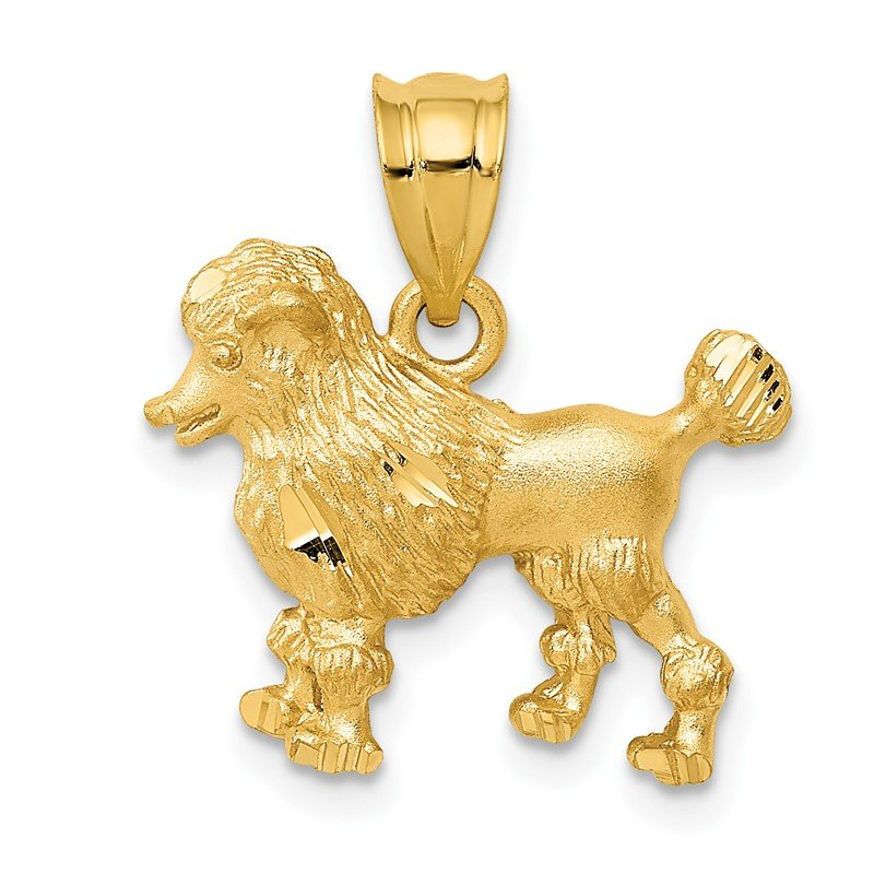 Quality Gold 14k Poodle Dog Charm
