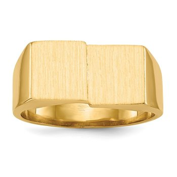 14k 10.0x17.0mm Open Back Men's Signet Ring