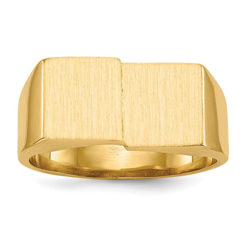Quality Gold 14k 10.0x17.0mm Open Back Men's Signet Ring