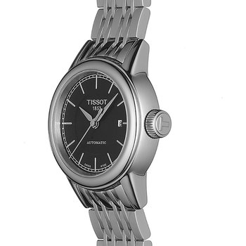 Carson Women's Automatic Black Watch with Stainless Steel Bracelet