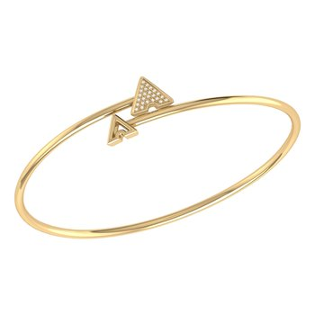 Skyscraper Roof Bangle in 14 KT Yellow Gold Vermeil on Sterling Silver