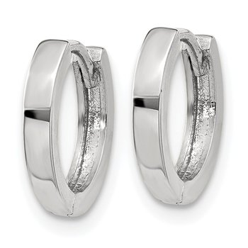 10k White Gold Hinged Hoop Earrings