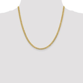 14k 3.7mm Lightweight Flat Cuban Chain