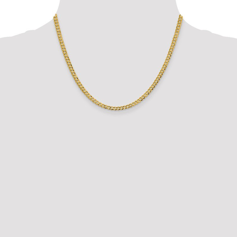 Quality Gold 14k 3.7mm Lightweight Flat Cuban Chain