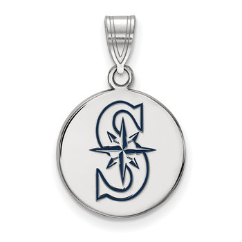 Sterling Silver Seattle Mariners MLB Pendant