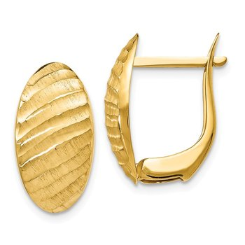 Leslie's 14K Brushed and Textured Hoop Earrings