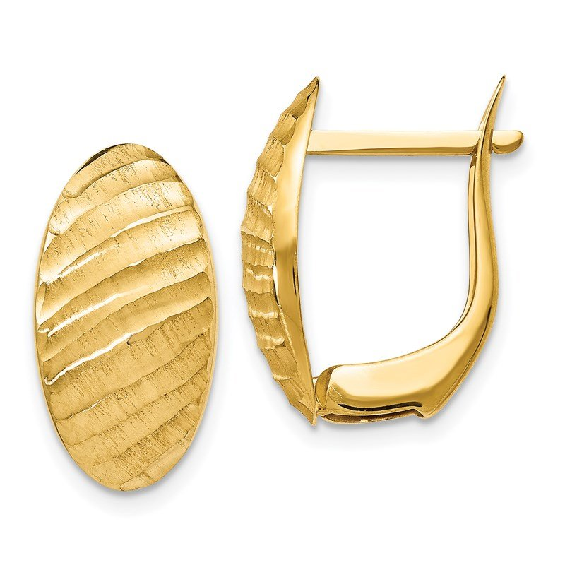 Leslie's Leslie's 14K Brushed and Textured Hoop Earrings