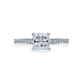 18kwg Halo Diamond Engagement Ring