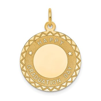 14k HAPPY GRADUATION DAY Charm