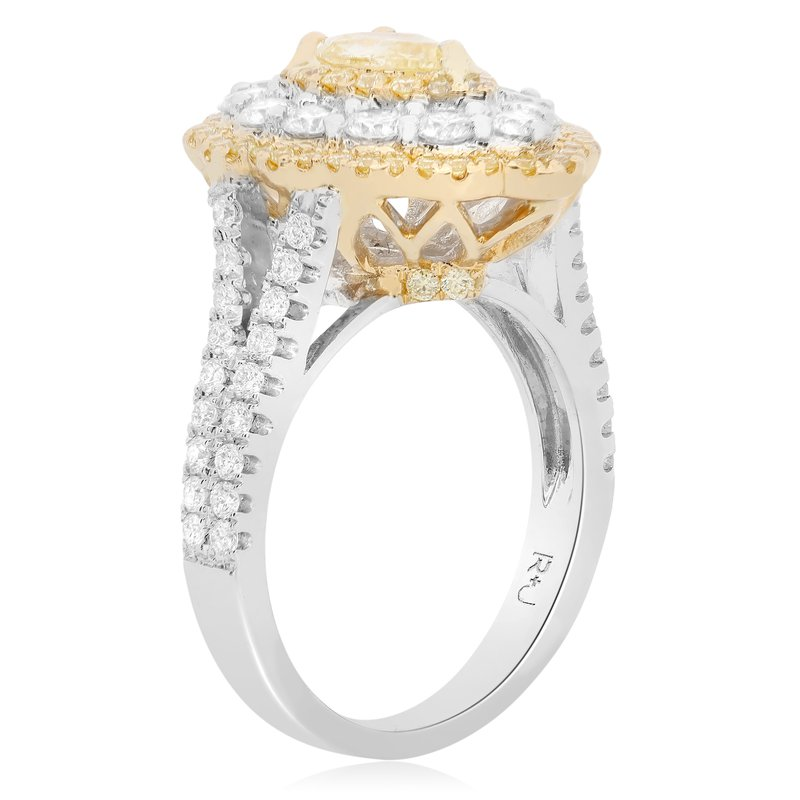 Roman & Jules Flowering Pearshaped Diamond Ring