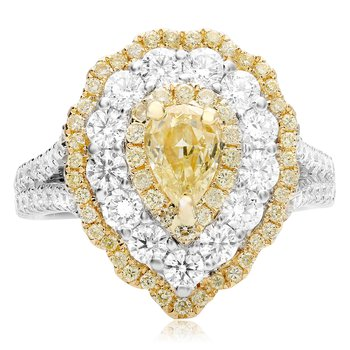 Flowering Pearshaped Diamond Ring