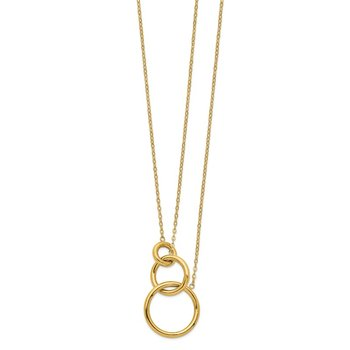 14k Oval Linked Layer Chain Necklace