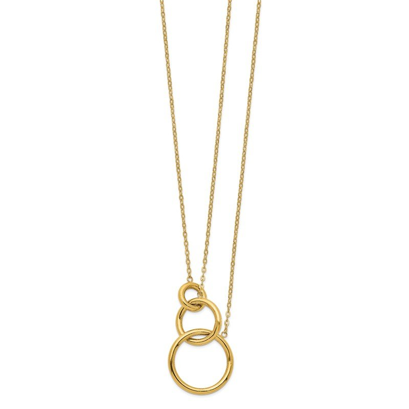 Quality Gold 14k Oval Linked Layer Chain Necklace
