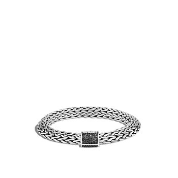Tiga Classic Chain 9.5MM Bracelet in Silver, Gemstone
