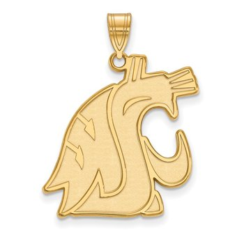 Gold-Plated Sterling Silver Washington State University NCAA Pendant