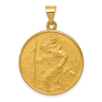 18k Saint Christopher Medal Pendant