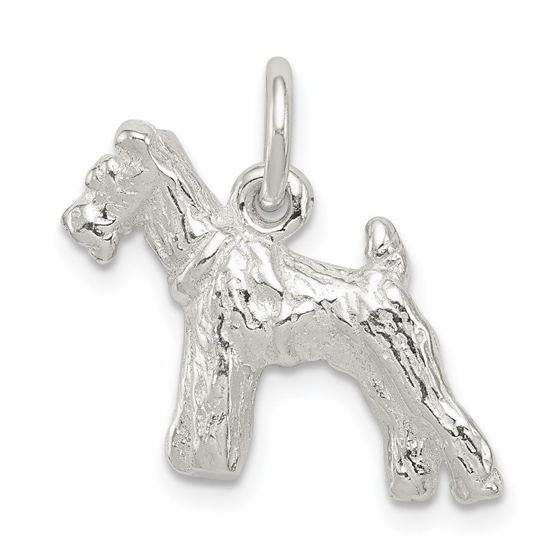 Quality Gold Sterling Silver Schnauzer Charm