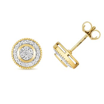 Diamond Earrings Set Around