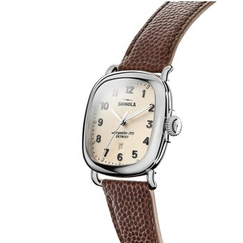 Guardian 3HD 41.5x43mm, Brown Leather Strap