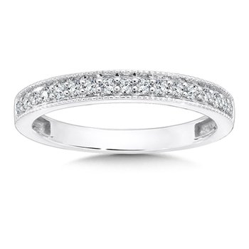 Pave set Diamond Wedding Ring in 14k White Gold (1/4ct. tw.)