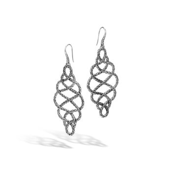 Classic Chain Large Braided Drop Earrings