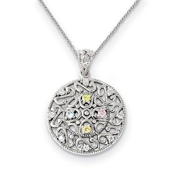 Sterling Silver CZ Bliss 18in Necklace