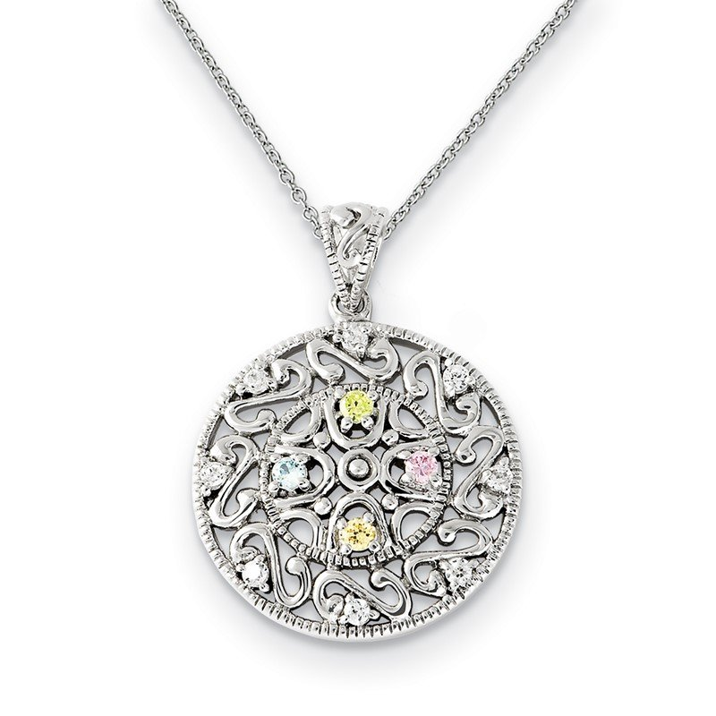 Quality Gold Sterling Silver CZ Bliss 18in Necklace