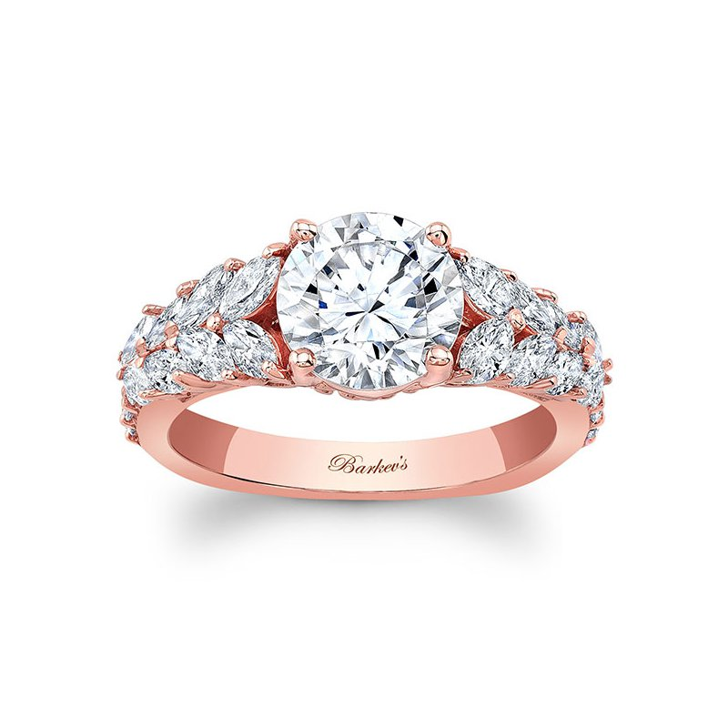 3f719a628 Diamonds Evermore: Barkev's Unique Rose Gold Engagement Ring