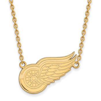 Gold-Plated Sterling Silver Detroit Red Wings NHL Necklace