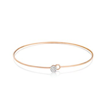 Rose gold diamond wire Infinity Love Always bracelet