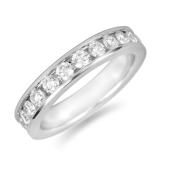 14K WG Diamond Eternity Ring in Channel Setting 2.0 Cts