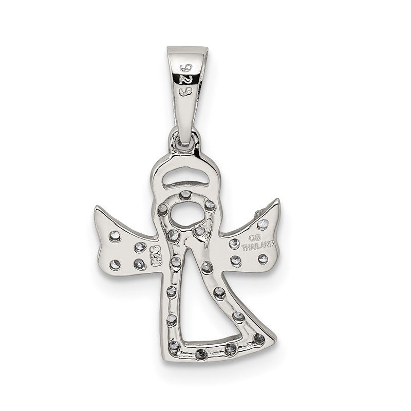 Lester Martin Online Collection Sterling Silver CZ Angel Pendant
