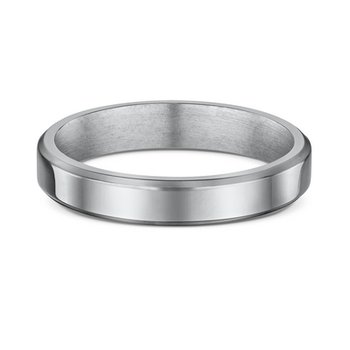 4mm Flat-Bevel Wedding Band