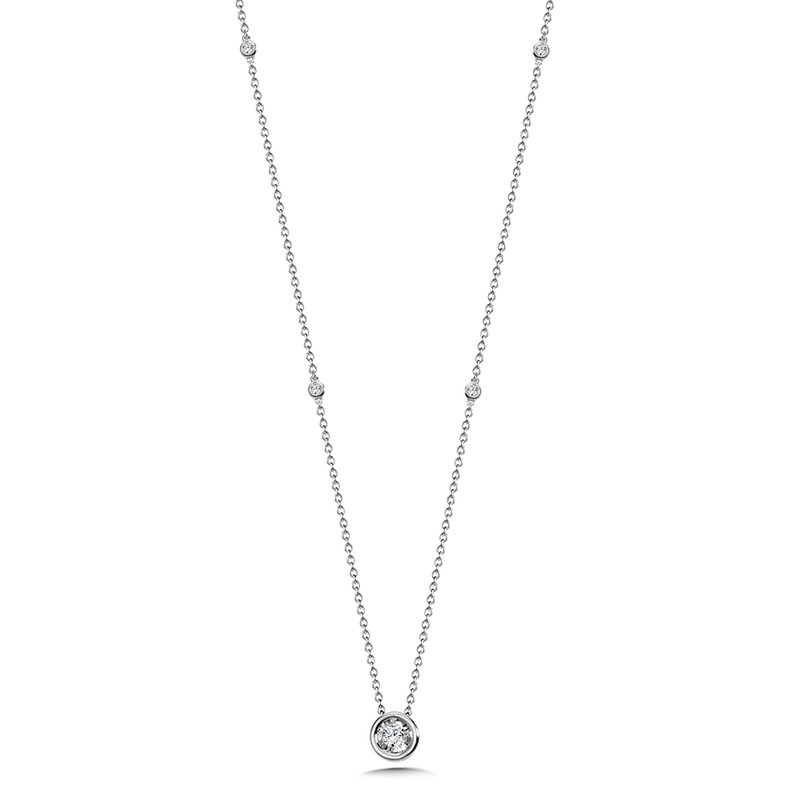 SDC Creations Bezeled Diamond Star Solitaire Pendant